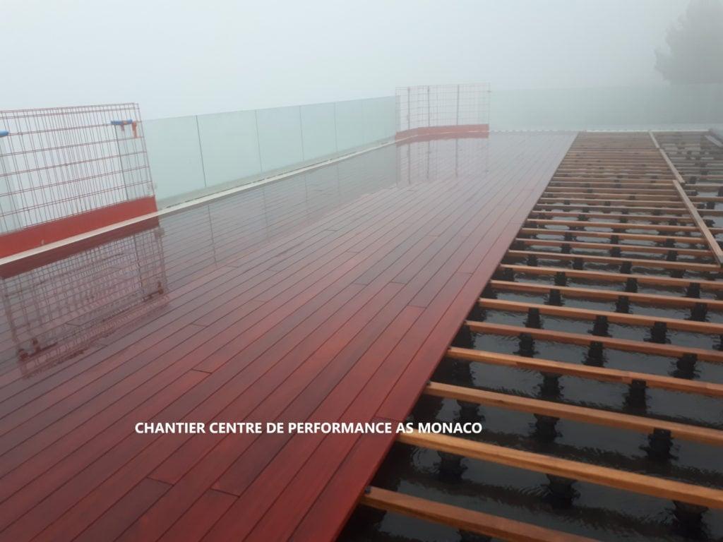 Centre de Performance AS Monaco - terrasse en padouk